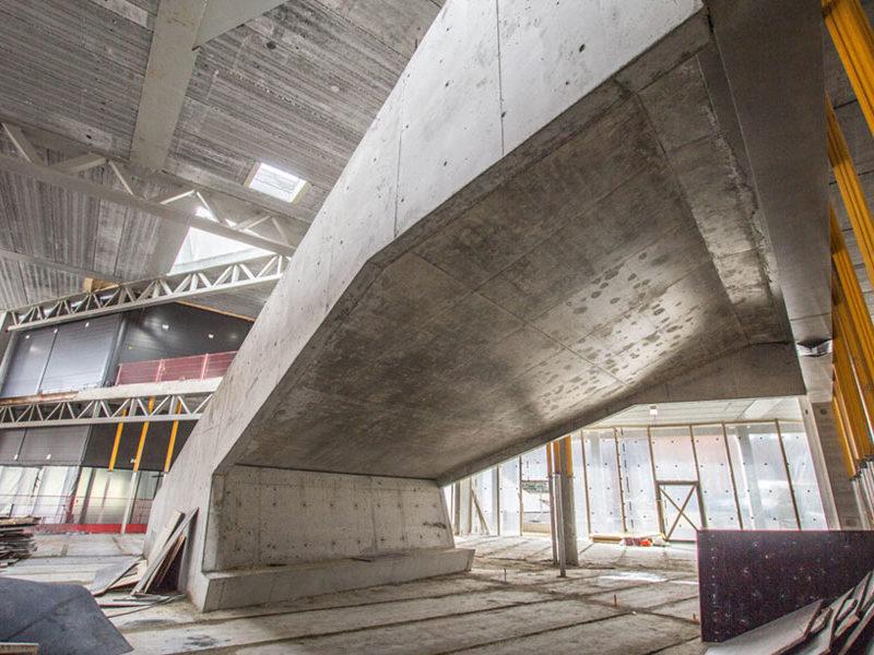 muottityöt, raudoitus ja betonointi